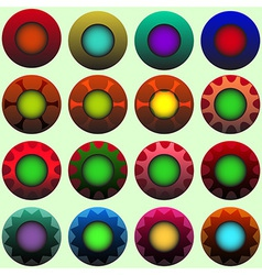 Coloured decorated buttons vector image vector image