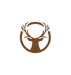 Deer logo template vector
