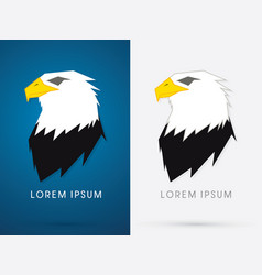 Eagle head face vector