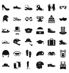 fashion icons set simple style vector image