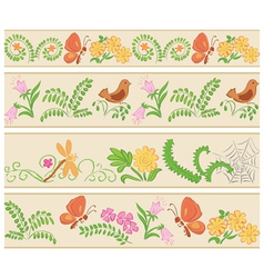 floral seamless ornaments vector image