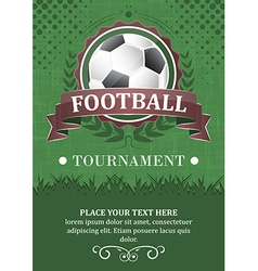 Football tournament background design with soccer vector