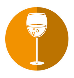 glass cup beverage drink shadow vector image