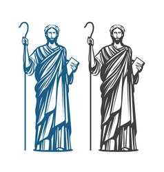 jesus christ of nazareth god messiah religion vector image