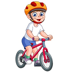 kid on bicycle vector image vector image