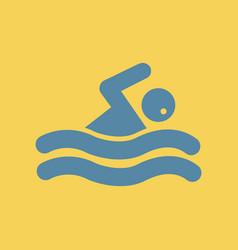 Man swimmer vector