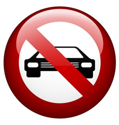 no car mark vector image vector image