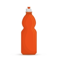 orange bottle water hydration sport vector image