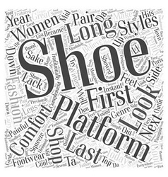 Platform shoes word cloud concept vector