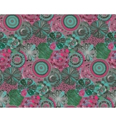 Seamless pattern with hand drawn fancy circle vector image