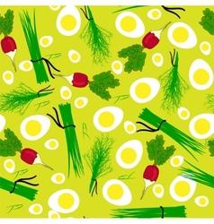 Seamless vegetables garden radish vector image vector image