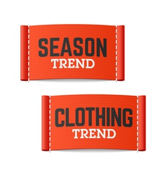 Season and Clothing Trend labels vector image vector image