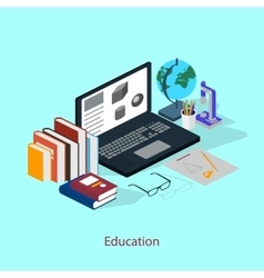 The concept of a student workplace Education vector image