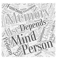 The memory of the mind word cloud concept vector
