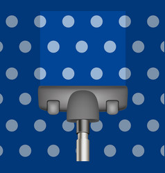 Vacuum cleaner drains blue carpet vector