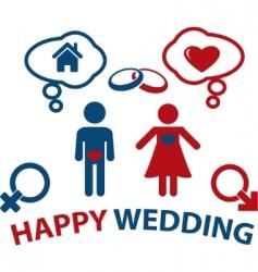 wedding concept vector image