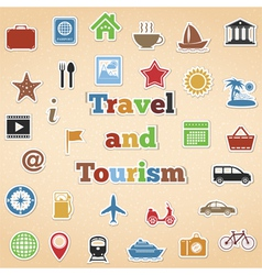 Travel and Tourism Icons vector image