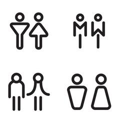 Toilet restroom bathroom icons vector