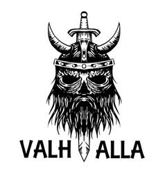 valhalla symbol of scandinavian ancient viking vector image