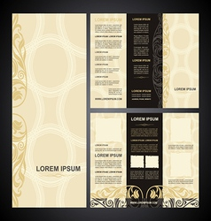 Brochure template vintage light vector