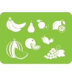 fruit white silhouette vector image