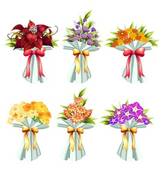 Flower bunches vector
