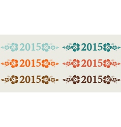 2015 Simple vector image