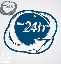 3d 24 hours clock includes additional versi vector