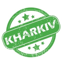 Kharkiv green stamp vector