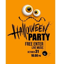 Halloween party happy holiday vector