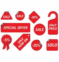 Sale signs vector