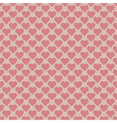 Seamless hearts pattern retro texture pink hearts vector