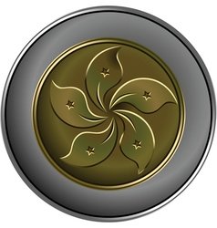 Gold and silver chinese coin vector