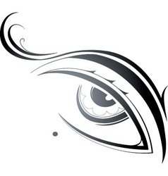 Artistic eye vector