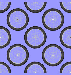 bicycle wheel icon seamless pattern vector image