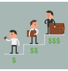 Business concept in flat style vector