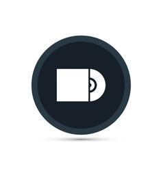 Cd icon simple vector