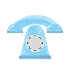 drawing telephone communication appliance home vector image