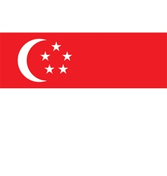 Flag of singapore vector