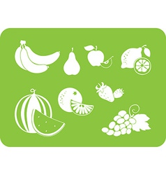 fruit white silhouette vector image