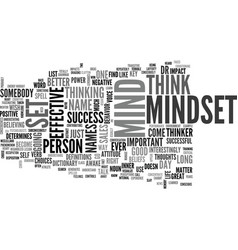 Is it mindset or mind set text background word vector
