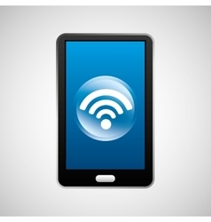 smartphone wifi social network media icon vector image