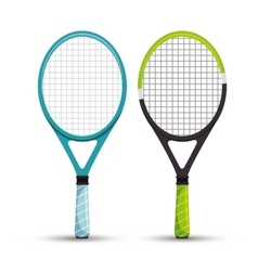 Two racket tennis sport graphic vector