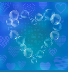 Valentine heart from bubbles vector