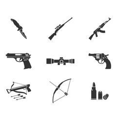 Weapon simply icons vector