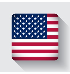 Web button with flag of the usa vector