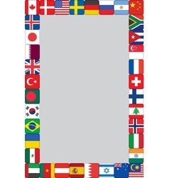 world flags icons frame vector image