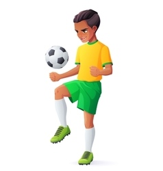 young football or soccer player boy vector image vector image