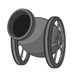 Medieval military throwing gun icon vector