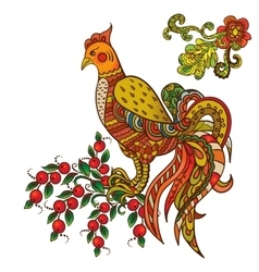 Rooster symbol 2017 on vector